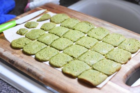 Matcha, Honey & Ginger Cookies